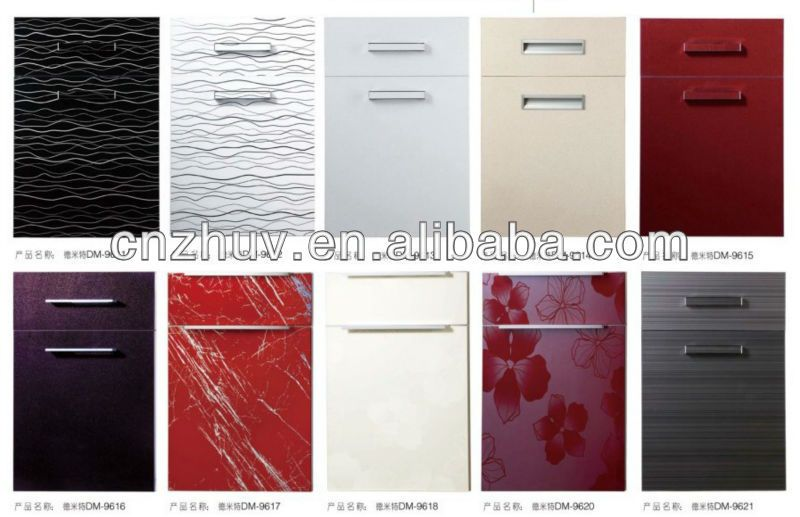 High Gloss Acrylic And Pvc Kitchen Cabinet Door Cupboard ...