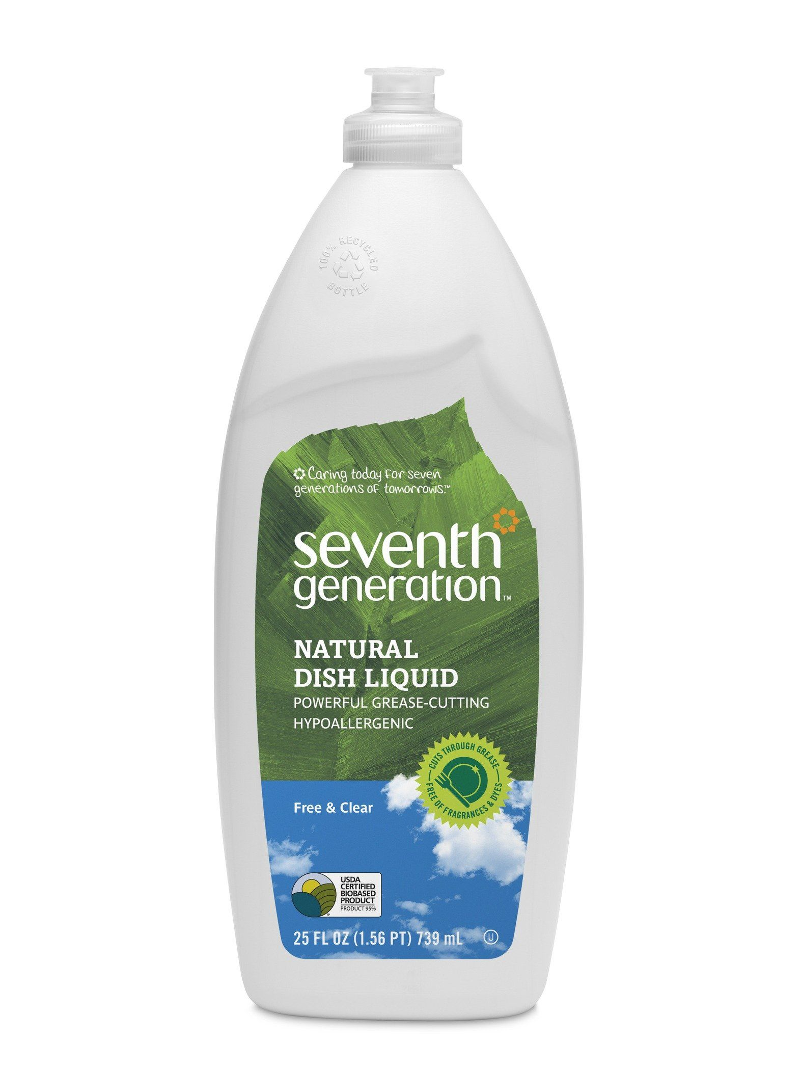 Seventh Generation Dish Liquid Free Clear 25 Ounce Bottles