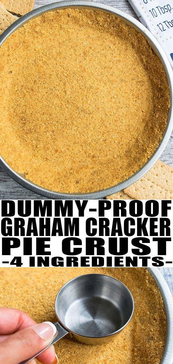Easy Graham Cracker Crust Recipe  - CakeWhiz.com - #CakeWhizcom #Cracker #crust #Easy #Graham #recipe #homemadegrahamcrackercrust