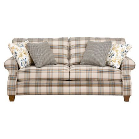 Angeline Loveseat-liking the plaid in gray and yellow (my new fav colors)