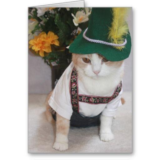 GtgtgtOrder Funny Cat German Birthday Greeting Cards