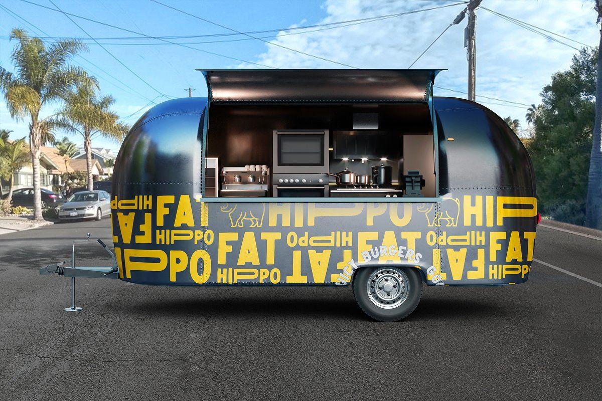 Food Truck Vol 3 Psd Mockup Food Truck Truck Design Food Truck Design