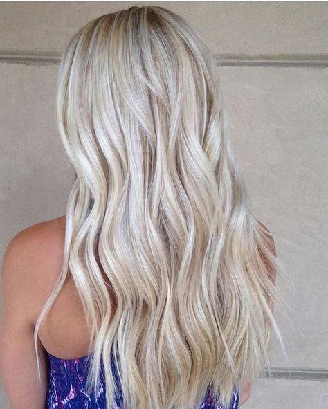 Perlowe Wlosy Trend Na Lato 2017 Icy Blonde Hair Baylage Hair Hair Styles