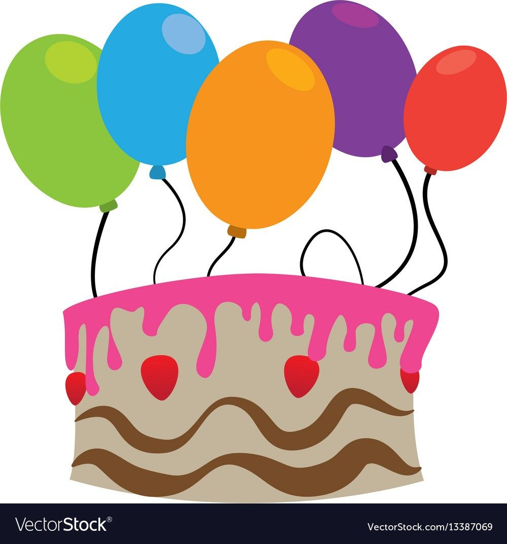 30 elegant photo of birthday cake and balloons balloon