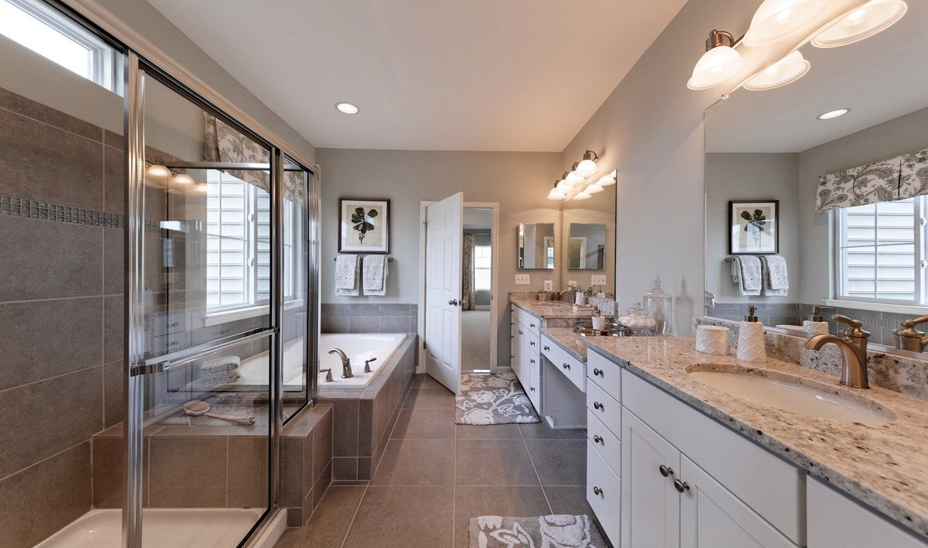 Matching Sinks And An Elegant Shower And Tub Define The Morgan IV Plan, A  New Home Built By K. Hovnanian Homes In The Huntfield Community.