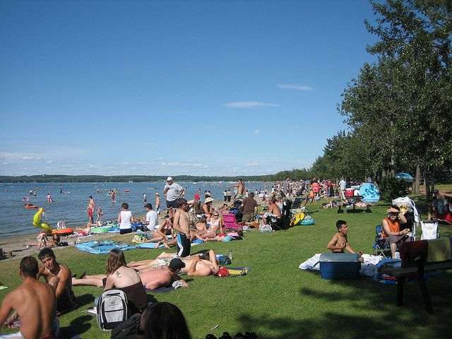 Beach At Sylvan Lake Alberta Canada