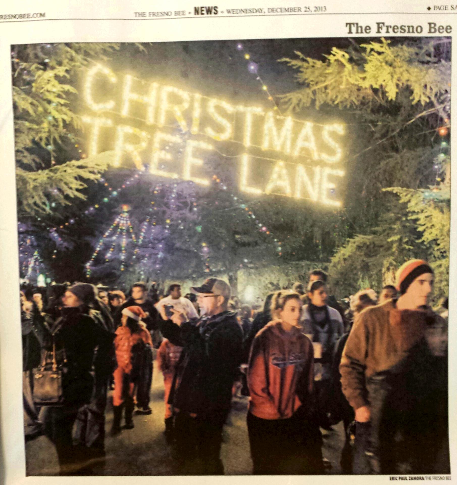 Christmas Tree Lane, Fresno, Ca. Van Ness Ave. 1912