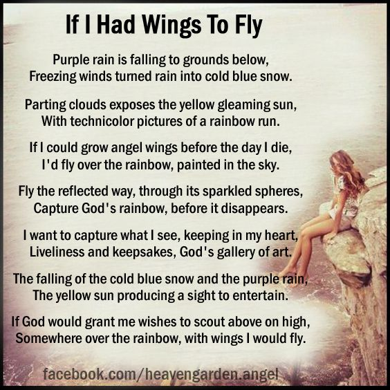 In memory poems - If I Had Wings To Fly - Heavens Garden