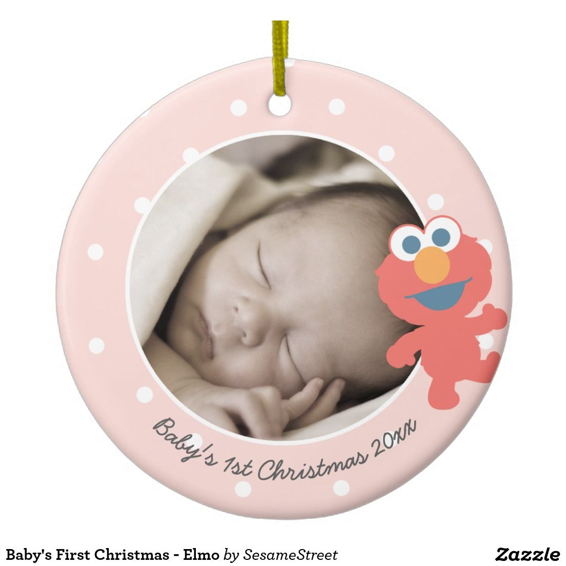 Baby's First Christmas - Elmo Ceramic Ornament