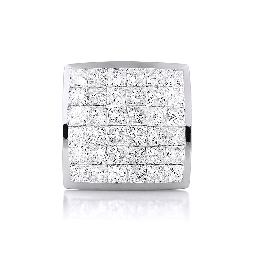 stud in white tw i square earrings ctw gold cut princess h diamond carat