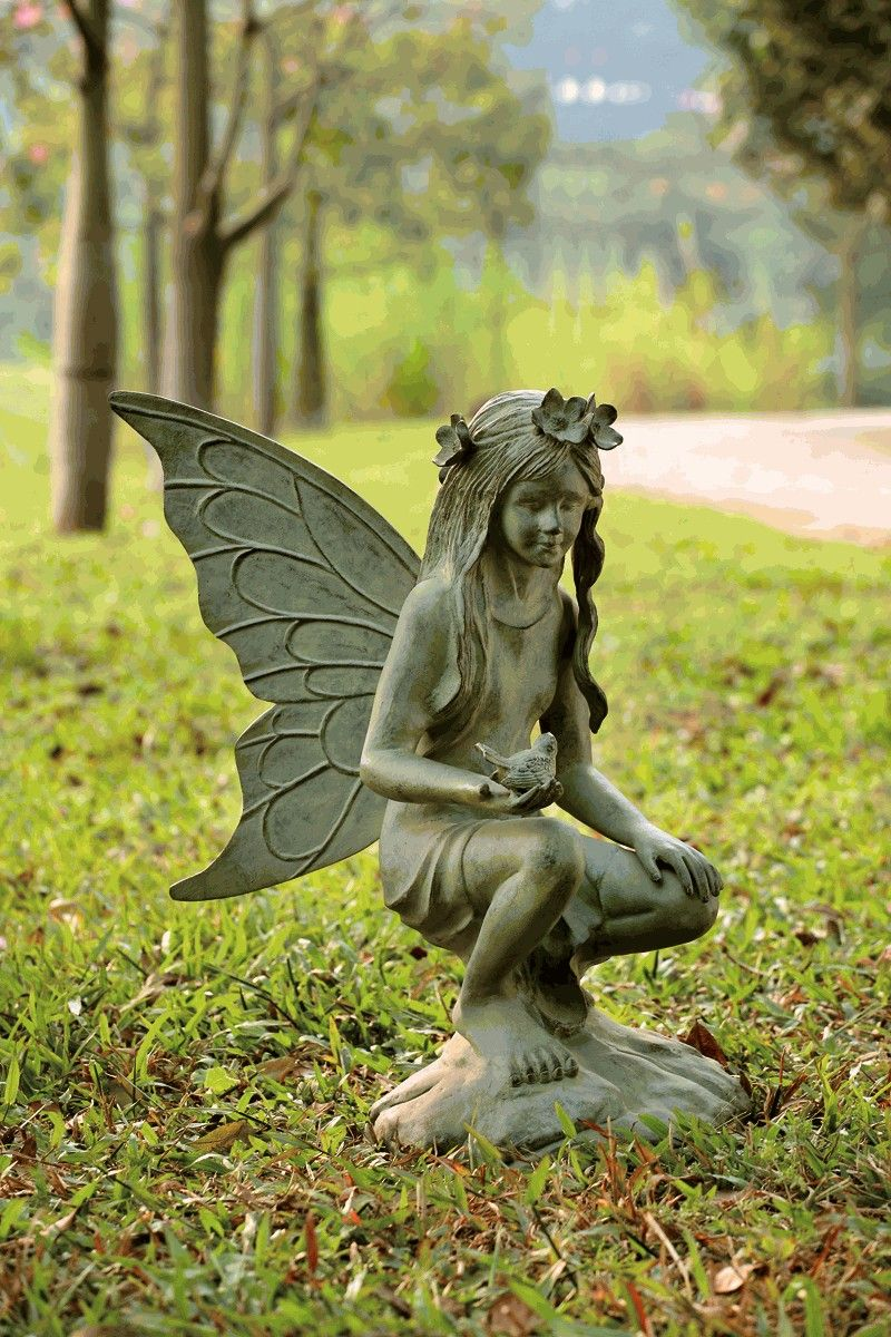 26 Beautiful And Creative Garden Sculptures Around The World Large Fairy Garden Fairy Statues Fairy Garden