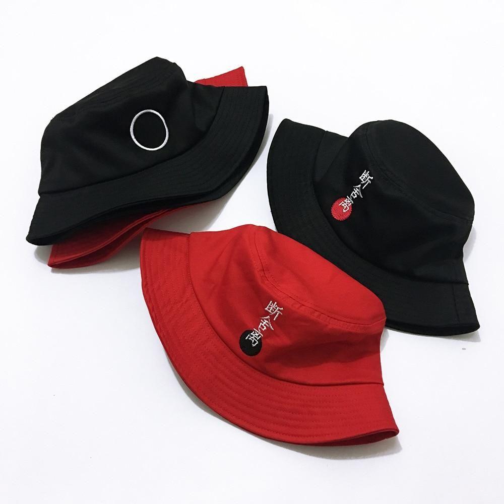 Japanese Embroidered Retro Bucket Hat Subtle Asian Fashion Fashion Koreanfashion Chinesenewyear Bts Sombreros De Moda Gorras De Moda Ropa Juvenil De Moda