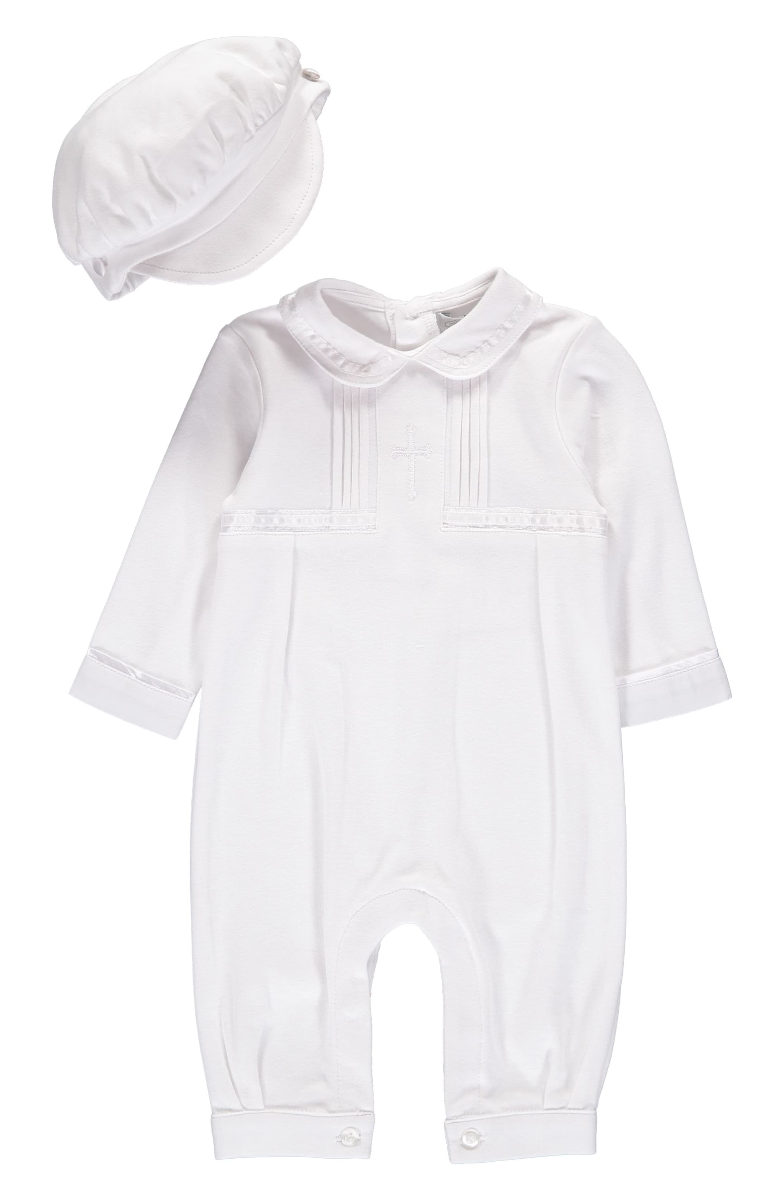 Carriage Boutique Baby Boy Elegant Christening Outfit with Hat