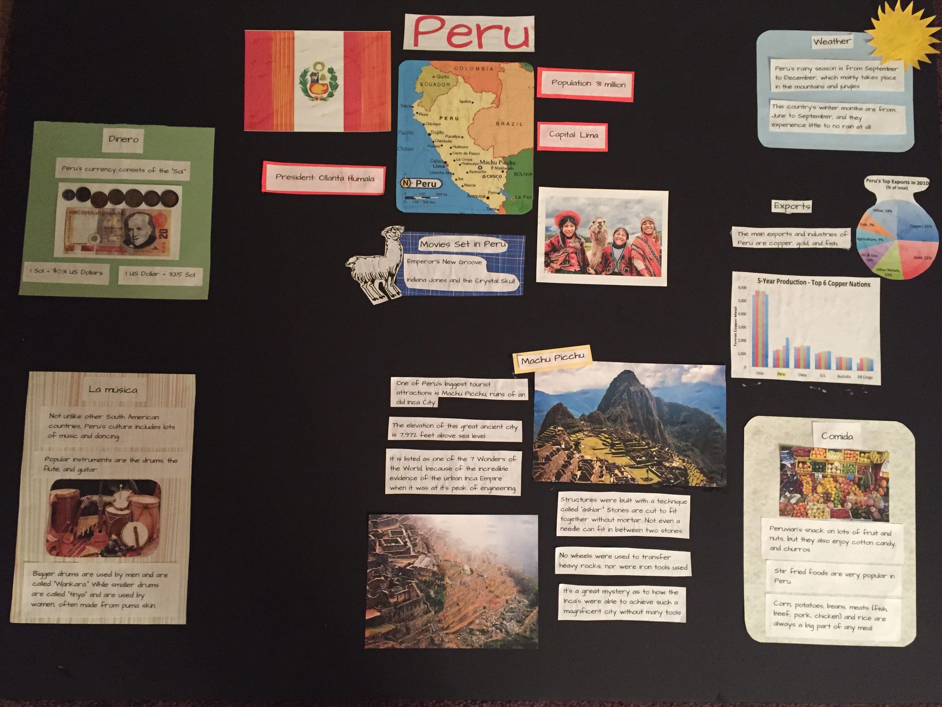 Peru Trifold Presentation Board