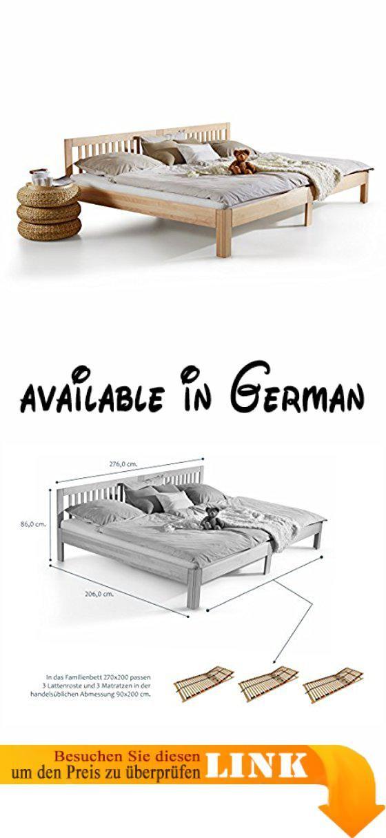 B01NB033UV : Ecolignum | Familienbett Como (#340270) | 270x200 cm ...
