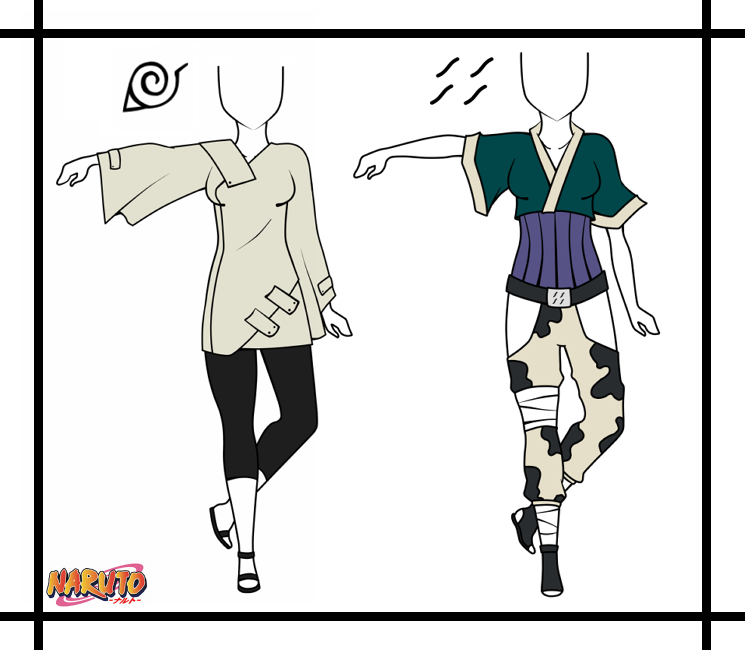 Naruto Dressup By Spacecoma On Deviantart: Naruto Adoptable Outfit Set 1