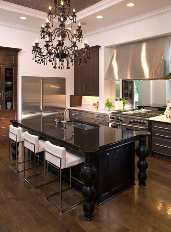 Elegant And Sumptuous Black Crystal Chandeliers Modern Kitchensdream