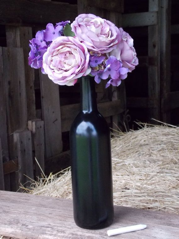 Glass Bottles For Wedding Decorations Wine Bottle Wine Bottle Wedding Centerpiece Chalkboard Wedding