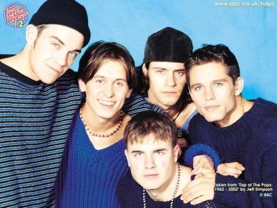 """Boygroups nos anos 90 deixavam as raparigas loucas- como a banda inglesa """"Take That""""."""
