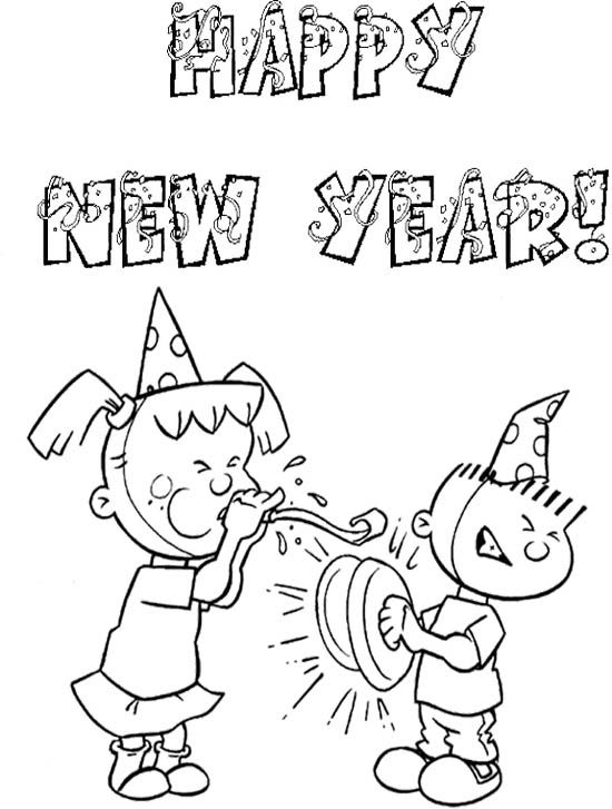 Happy New Year Kids Coloring Page New Year Coloring Pages Coloring Pages Coloring Pages For Kids