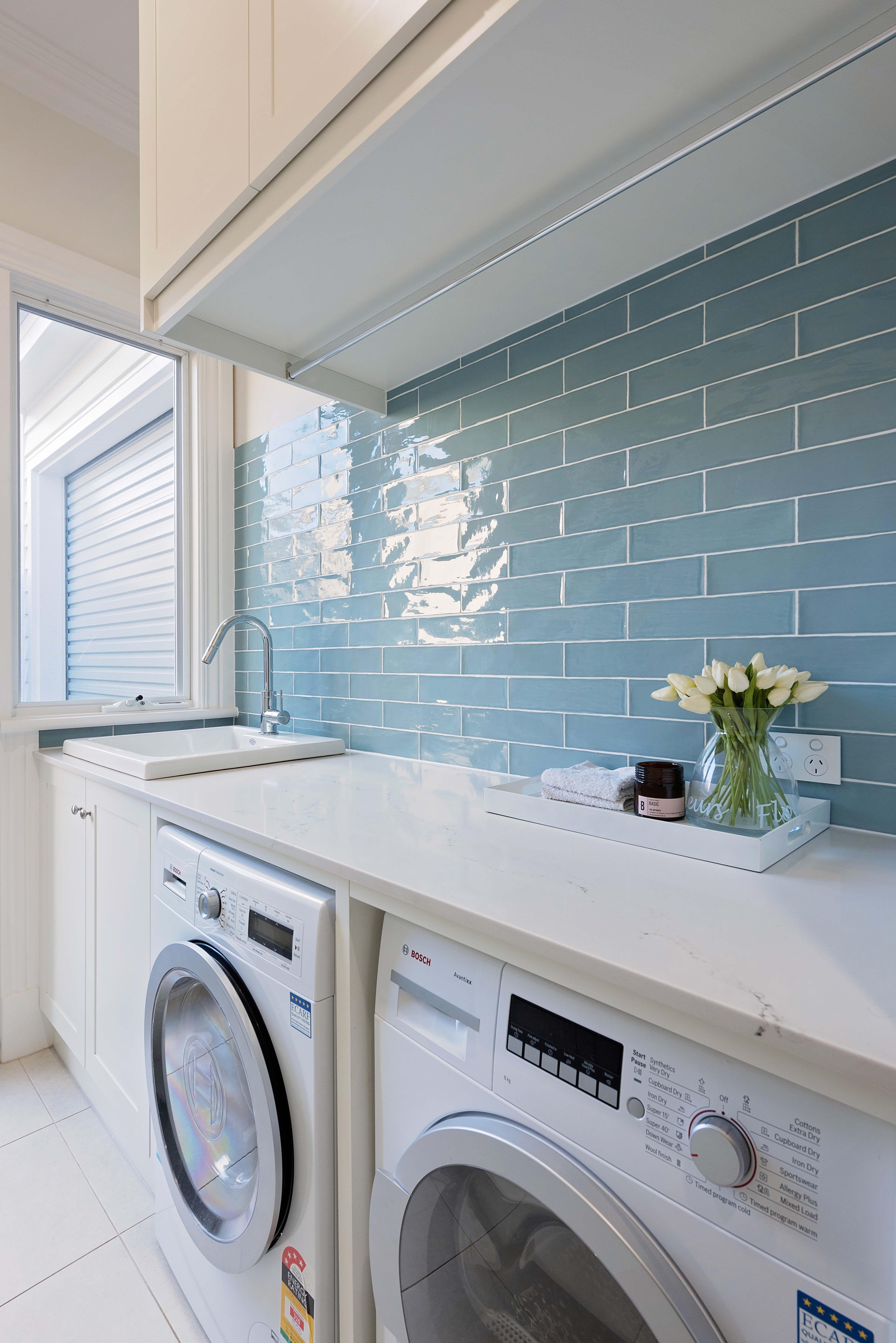 22 Best Laundry Room Backsplash Ideas White Laundry Rooms