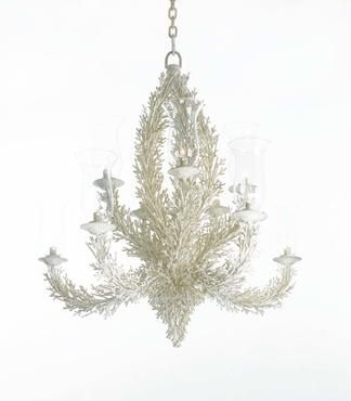 Faux coral aged metal chandelier with 10 lights use ten 15 watt faux coral aged metal chandelier with 10 lights use ten 15 watt bulbs aloadofball Gallery