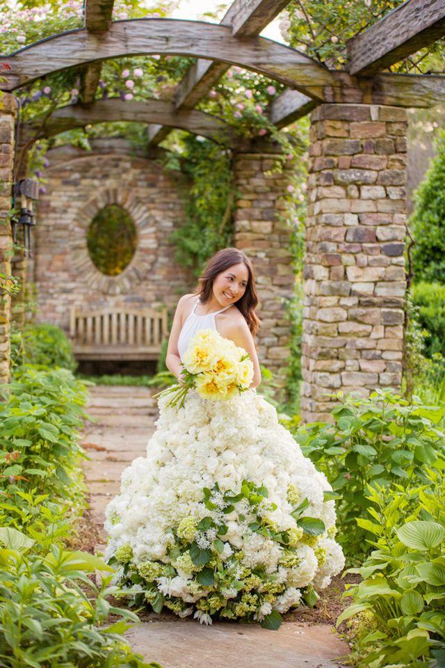 Living Flower Wedding Dress