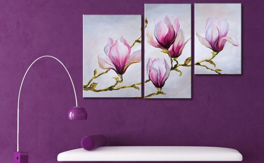 Cuadros Flores Abstractos Tripticos Dipticos Modernos 420 00 En