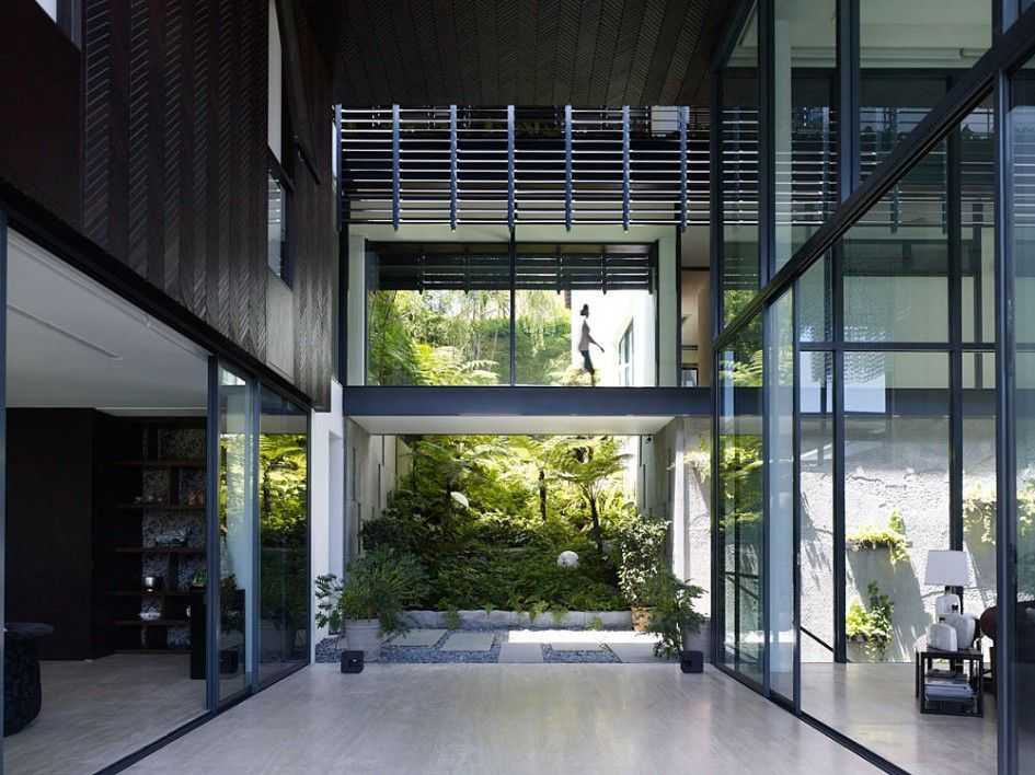 Architecture High Ceiling Modern Tropical House Design With