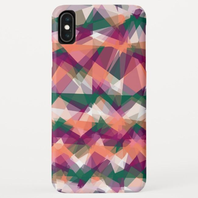 Mosaic Abstract Art iPhone XS Max Case
