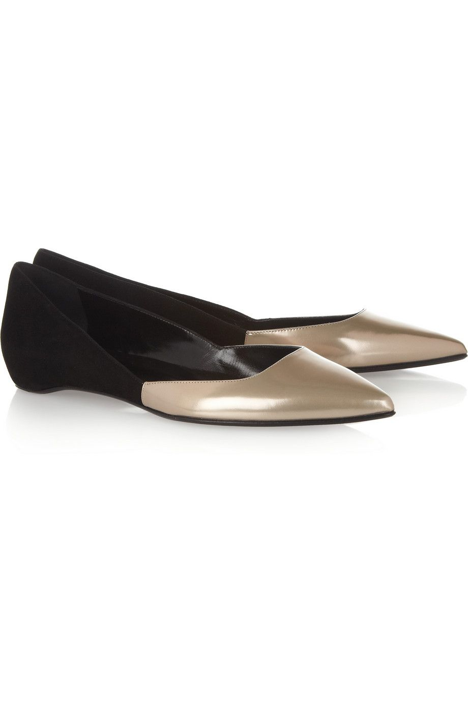 Pierre Hardy|Patent-leather and suede flats