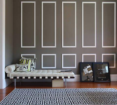 What A Dream For An Entryway Jill Robertson Hason Schulte S Home Via Design Sponge Decorative Wall Molding Wall Molding Home