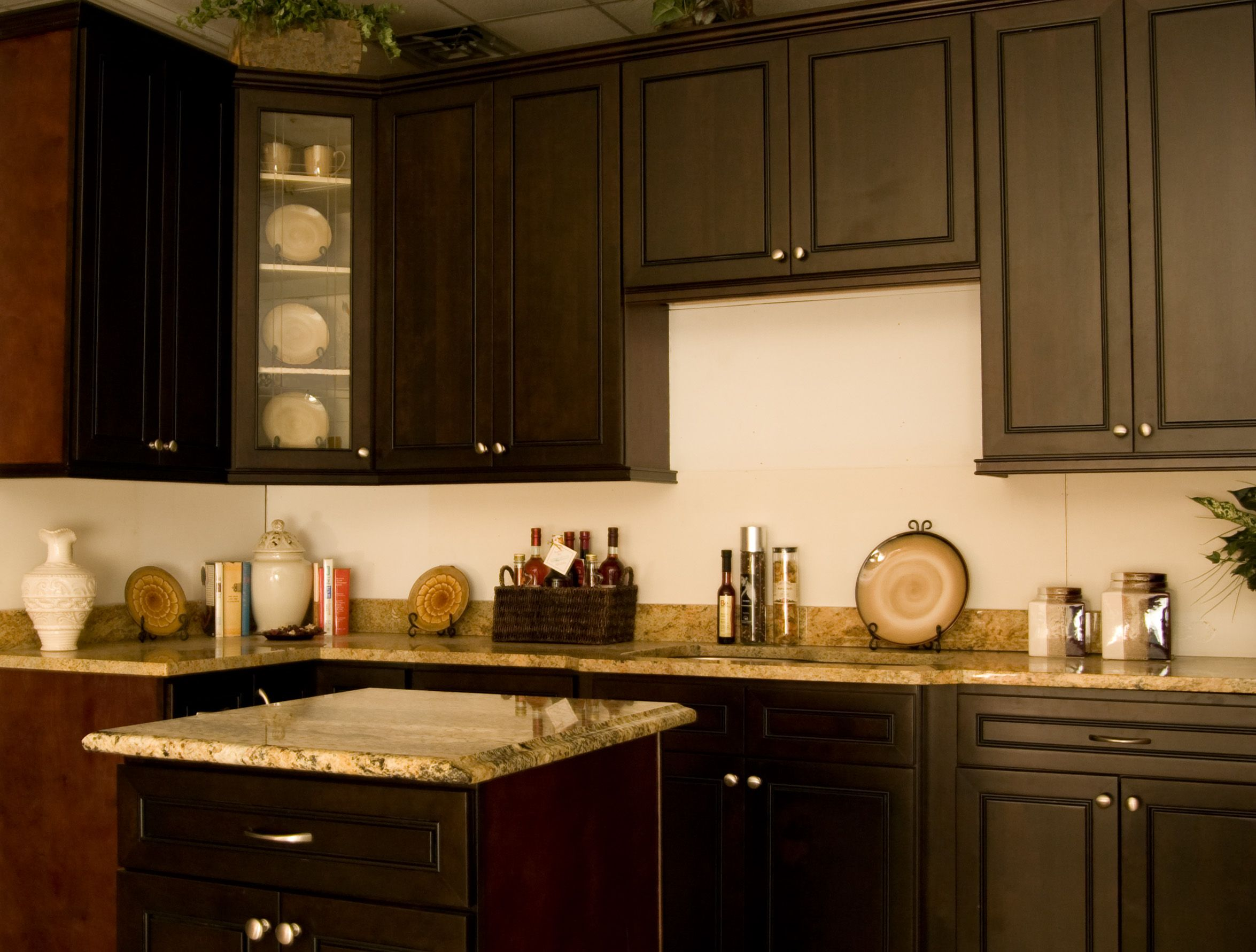 Best Espresso Cabinets With Granite Counter Tops Cheap 400 x 300