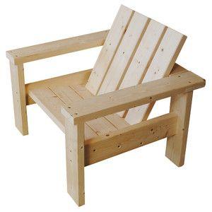 Fauteuil Sapin pour salon de jardin bois - Wood Structure ...
