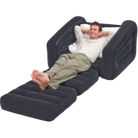 Intex 68565ep Inflatable Pull Out Sofa Chair And Twin Bed Air
