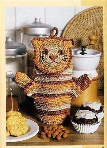 Todo crochet | Pinterest | Agarraderas, Como tejer y Forma de