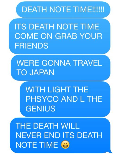 As you can see here I really like death note...