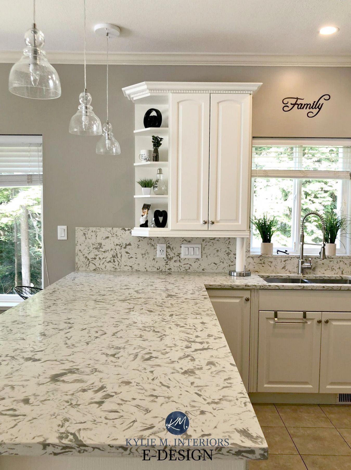 Kitchen update, TCE 3001 quartz, Pashmina paint colour ...