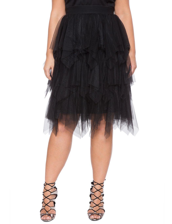 afaf523eb2a Studio Layered Tulle Midi Skirt