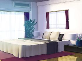 Anime Hotel Bedroom Background