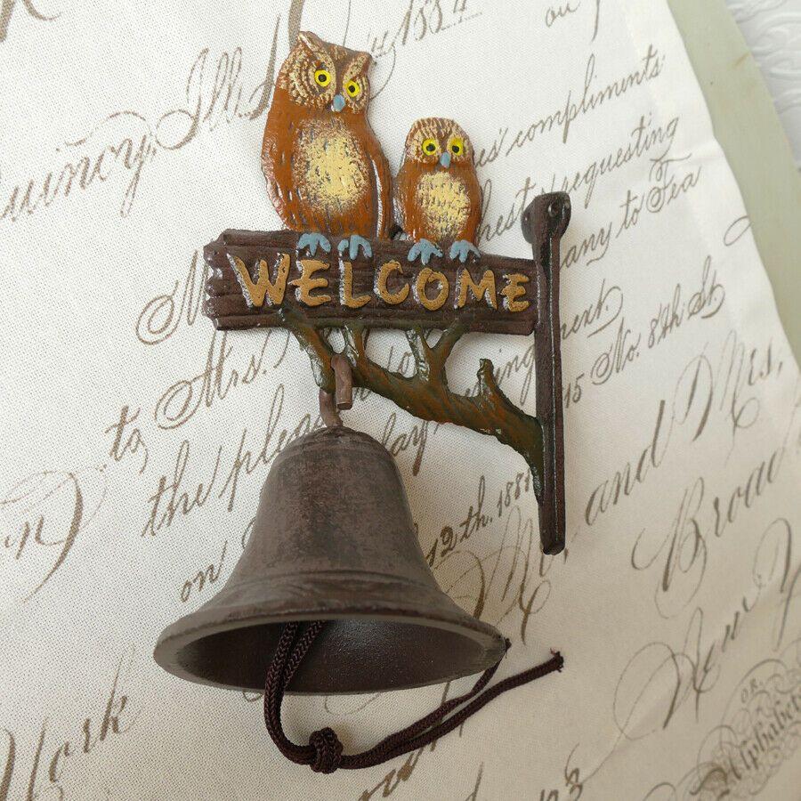 """GR Gusseisen Glocke Wandglocke Türglocke /""""Welcome/"""" im Landhausstil Nostalgie"""