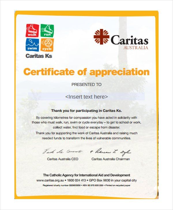 Certificate Of Appreciation Templates 12 Free Word Excel PDF