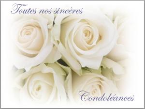Carte Condoleances Carte Condoleances Carte Carte Felicitation