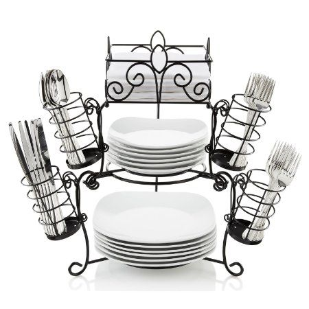 Amazon.com: 7 Piece Stack & Serve Buffet Set: Everything Else