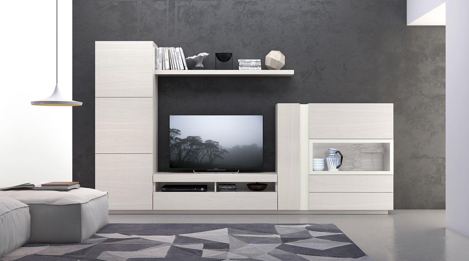 One Mueble Modular De Pared Modular By Moverel Home Sala Tv  # Muebles Rinnova