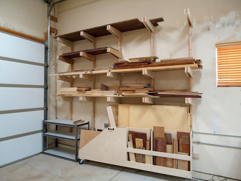 lumber storage rack dust collection lumber rack and cabinets the wood whisperer projects. Black Bedroom Furniture Sets. Home Design Ideas
