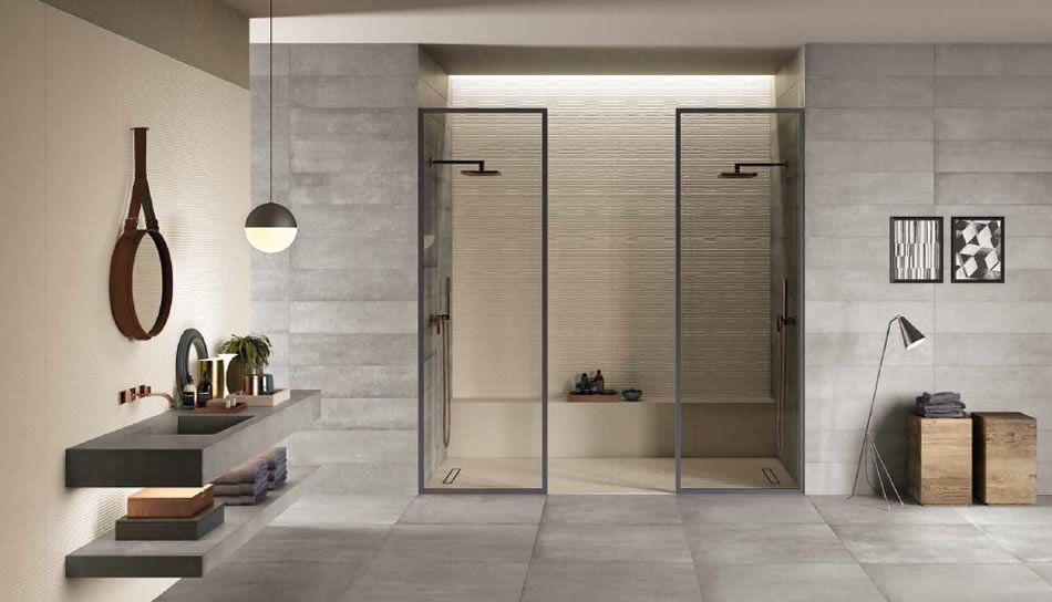 Badkamer Tegels Ceramico : Industriële badkamer keramische tegels kronos ceramica stalen