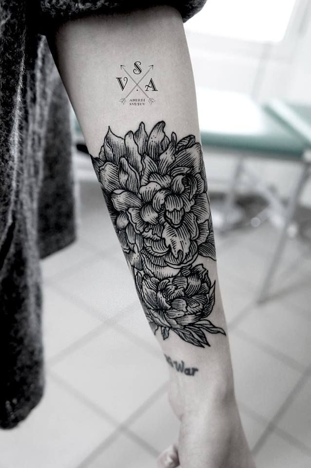 Flowers By Andrey Svetov Arms Forearms Tattoos Tattoo