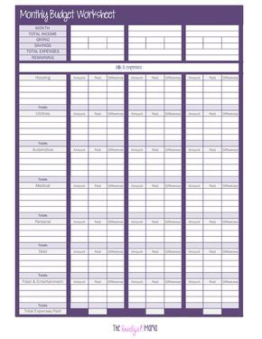 103374547-The-Monthly-Budget-Worksheet.pdf - Google Drive | Budget ...