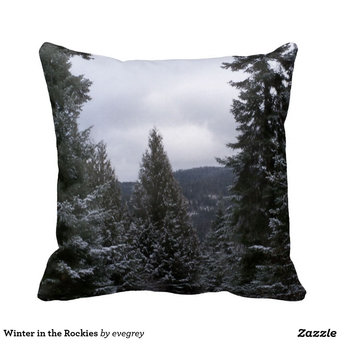 Winter in the Rockies Throw Pillow